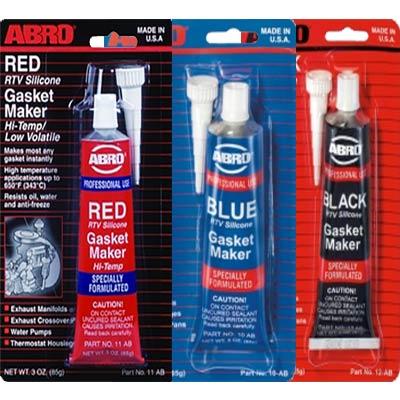 ABRO raudonas, mėlynas, juodas silikoniniai sandarintojai