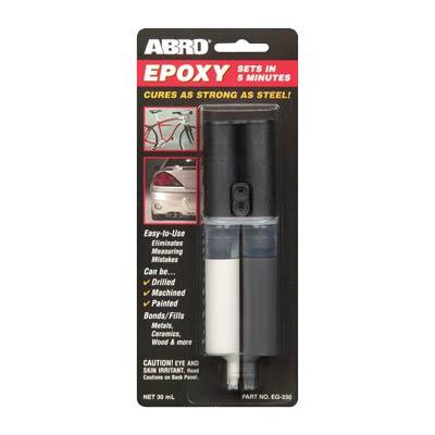 ABRO EG-330 epoksidiniai klijai (pilki su švirkštu)
