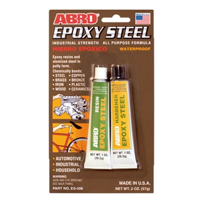 ABRO ES-506 epoksidiniai klijai (pilkos spalvos)