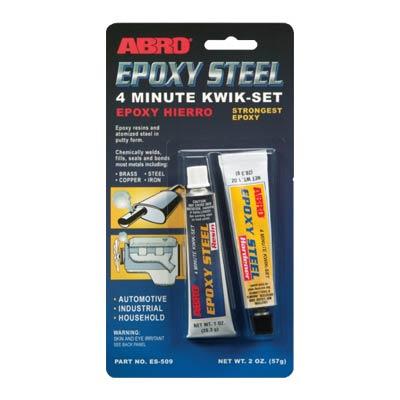 ABRO ES-509 epoksidiniai klijai (pilkos spalvos)