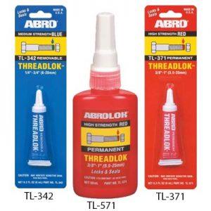 ABRO TL-342, ABRO TL-371, ABRO TL-571 klijai varžtų fiksavimui